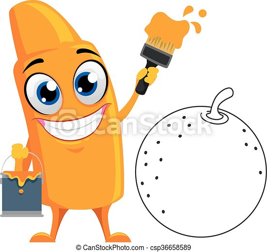 Orange Crayon Coloring Orange
