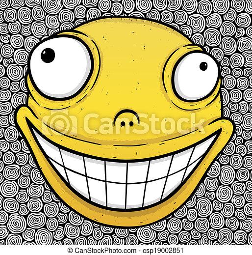 Orange crazy smile - csp19002851