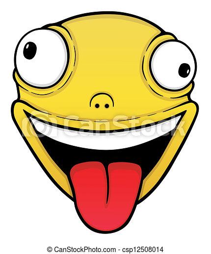 Orange crazy smile - csp12508014