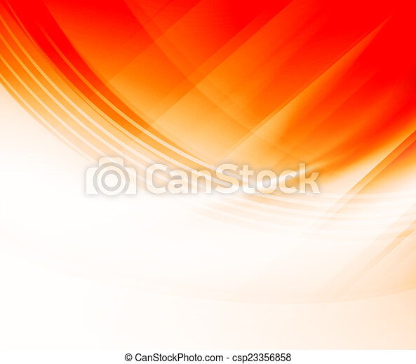 Orange Curves Abstract Background - csp23356858