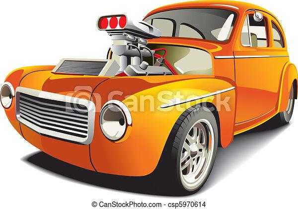 orange drag car - csp5970614