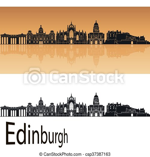 orange, edimbourg, horizon - csp37387163