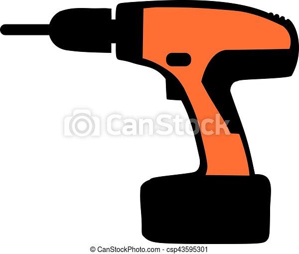 Orange electro screwdriver - csp43595301