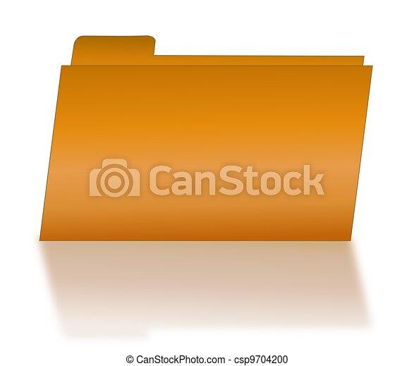 Orange File Folder with Shadow - csp9704200