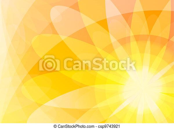 orange, floral, résumé, papier peint, fond - csp9743921