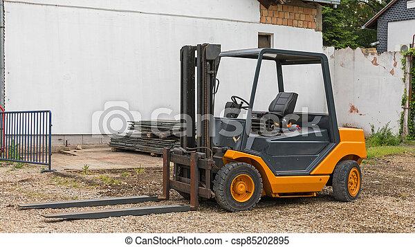 Orange Forklift Truck - csp85202895