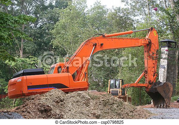 Orange Front End Loader - csp0798825