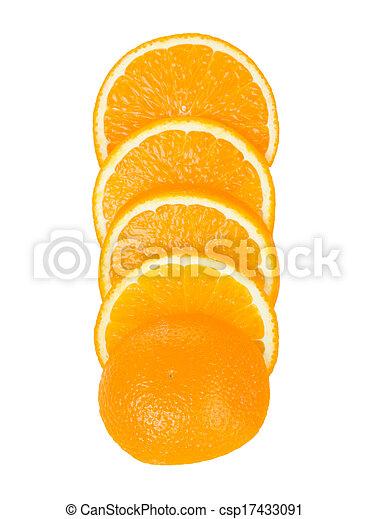 Orange fruit background - csp17433091