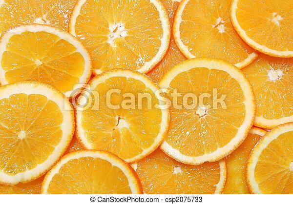 orange fruit background - csp2075733