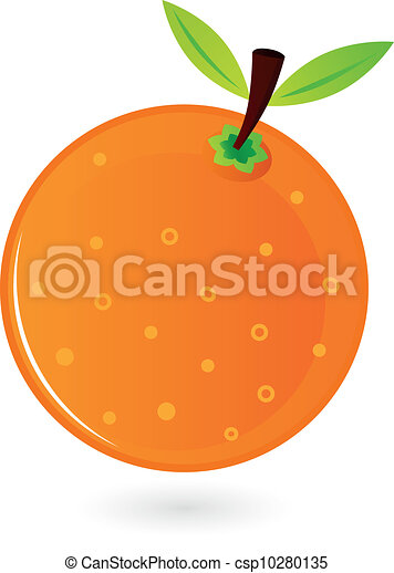 Orange fruit isolated on white - csp10280135
