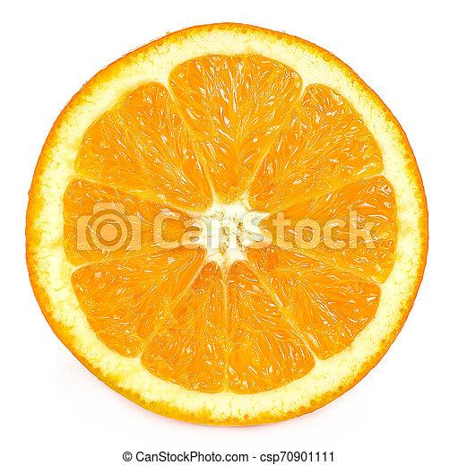 Orange fruit isolated on white background - csp70901111