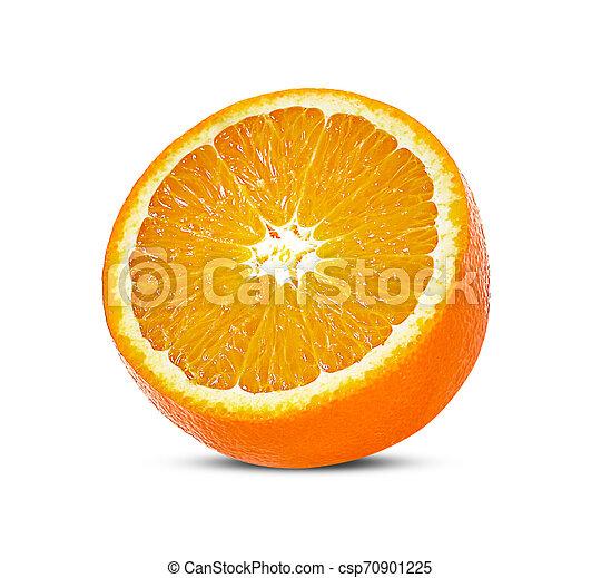 Orange fruit isolated on white background - csp70901225