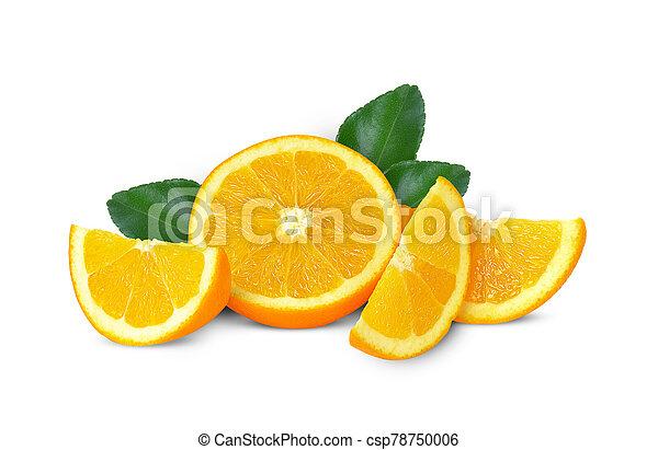 Orange fruit isolated on white background - csp78750006