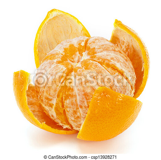 Orange fruit on white background - csp13928271