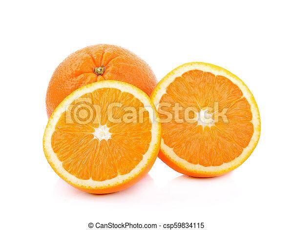 Orange fruit on white background - csp59834115