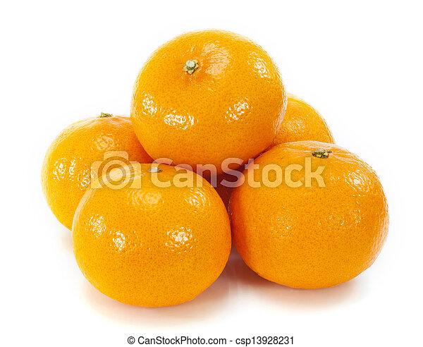 Orange fruit on white background - csp13928231