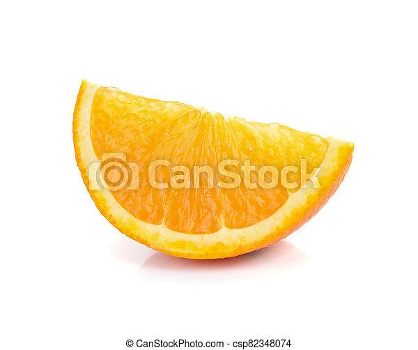 Orange fruit sliced isolated on white background - csp82348074
