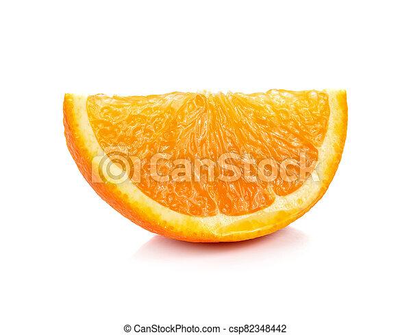 Orange fruit sliced isolated on white background - csp82348442