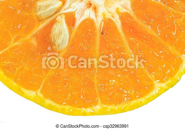 Orange fruit sliced isolated - csp32963991