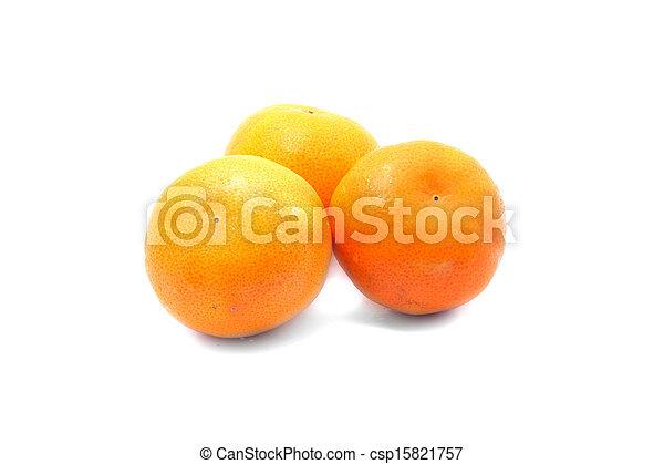 Orange fruits isolated on white background - csp15821757