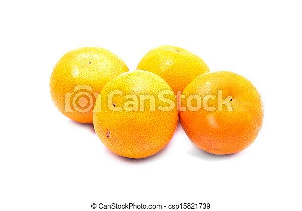 Orange fruits isolated on white background - csp15821739