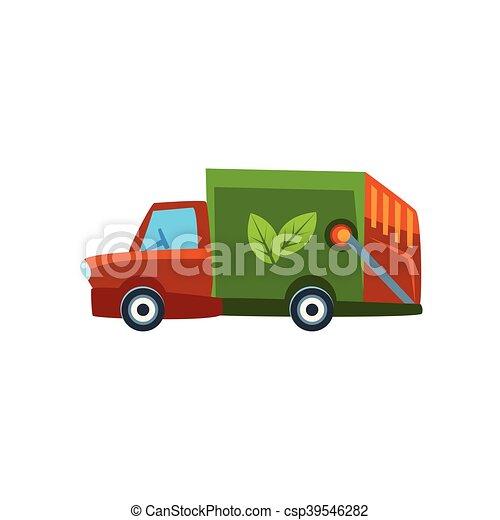 Orange Garbage Truck Toy Cute Car Icon