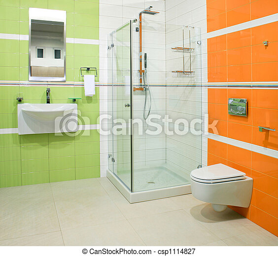 Orange, Grün Stockfoto