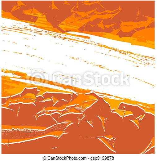 Orange grunge background - csp3139878
