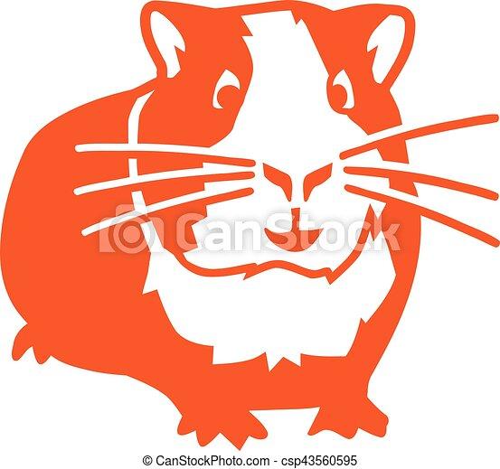 Orange Hamster - csp43560595