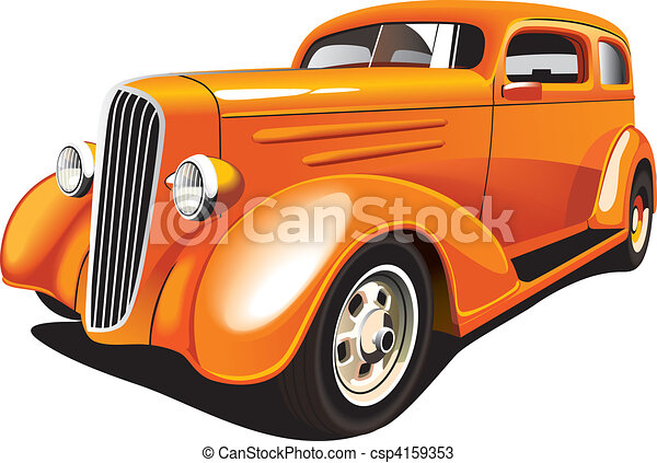 Orange Hot Rod - csp4159353