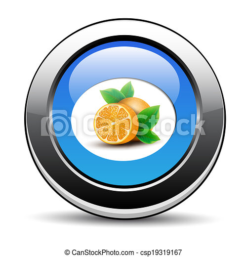 Orange icon - csp19319167
