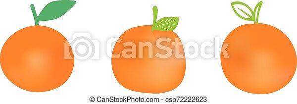 orange icon on white background - csp72222623