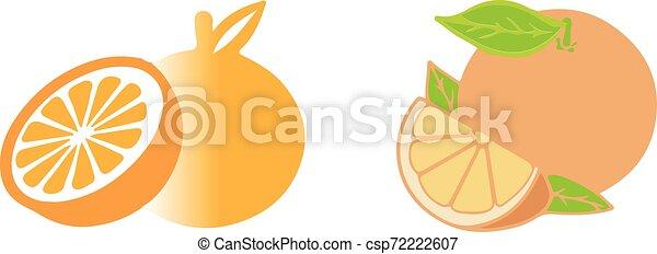 orange icon on white background - csp72222607