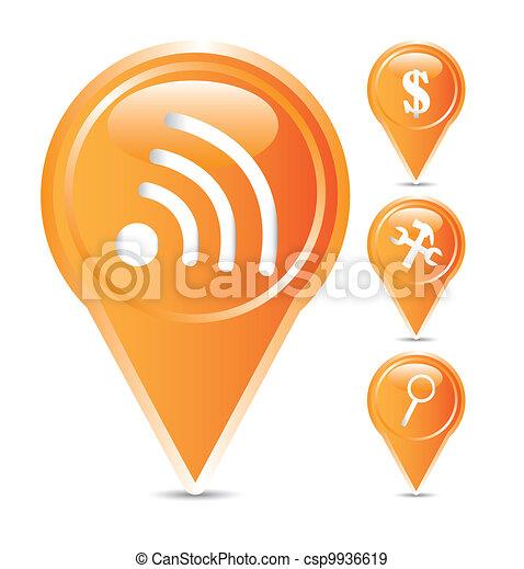 orange icons - csp9936619