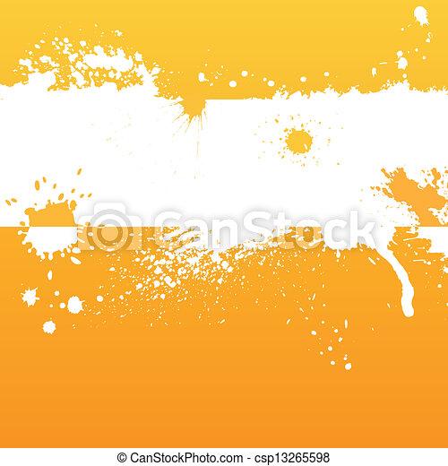 Orange ink background - csp13265598