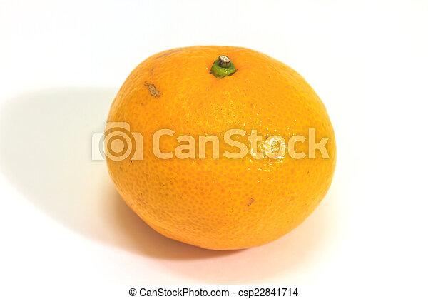 orange isolated on white background - csp22841714