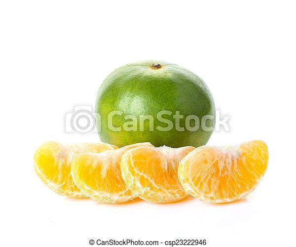 Orange isolated on white background - csp23222946