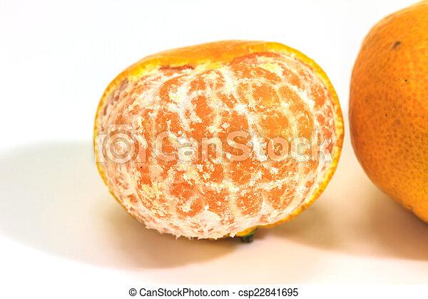 orange isolated on white background - csp22841695