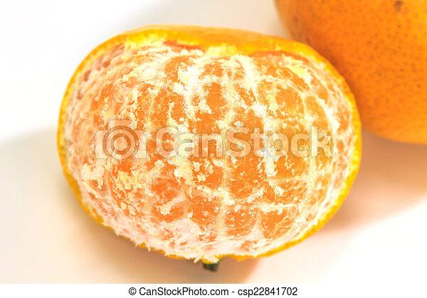 orange isolated on white background - csp22841702