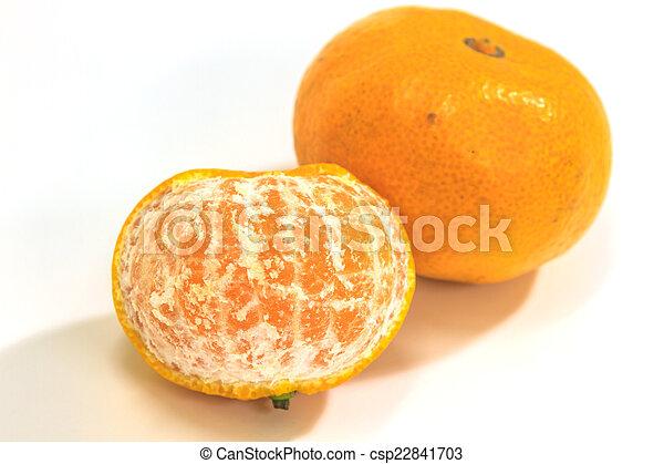 orange isolated on white background - csp22841703