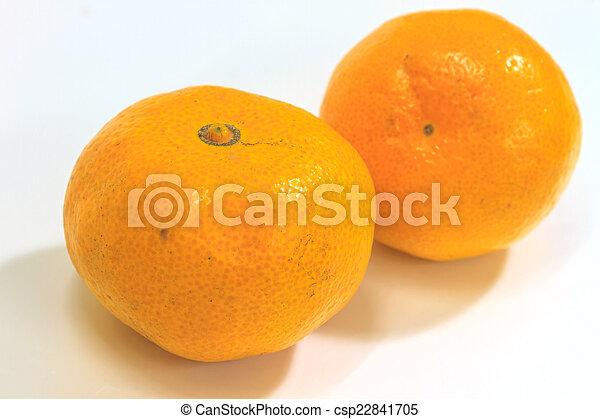 orange isolated on white background - csp22841705