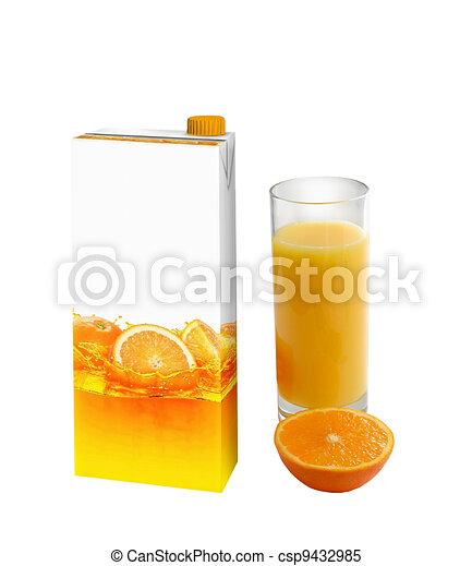 Orange juice carton box - csp9432985