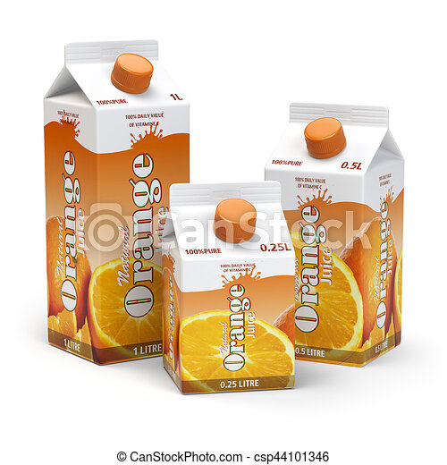 Orange Juice Carton Clipart