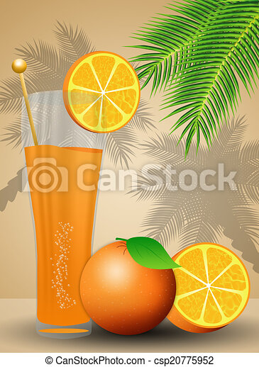 Orange juice for summertime - csp20775952