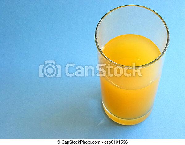Orange juice in a glass - csp0191536