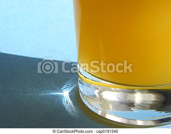 Orange juice in a glass - csp0191540
