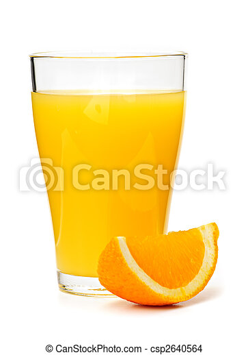 Orange juice in glass - csp2640564