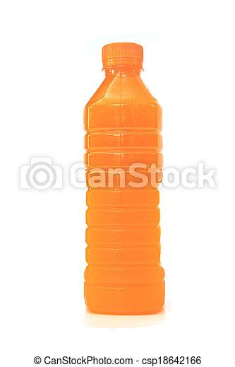 orange juice in plastic bottle - csp18642166