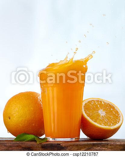 orange juice splash - csp12210787