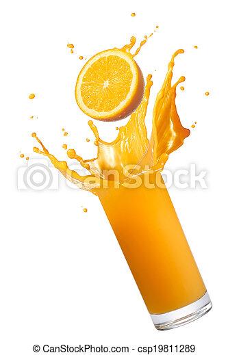 orange juice splash - csp19811289